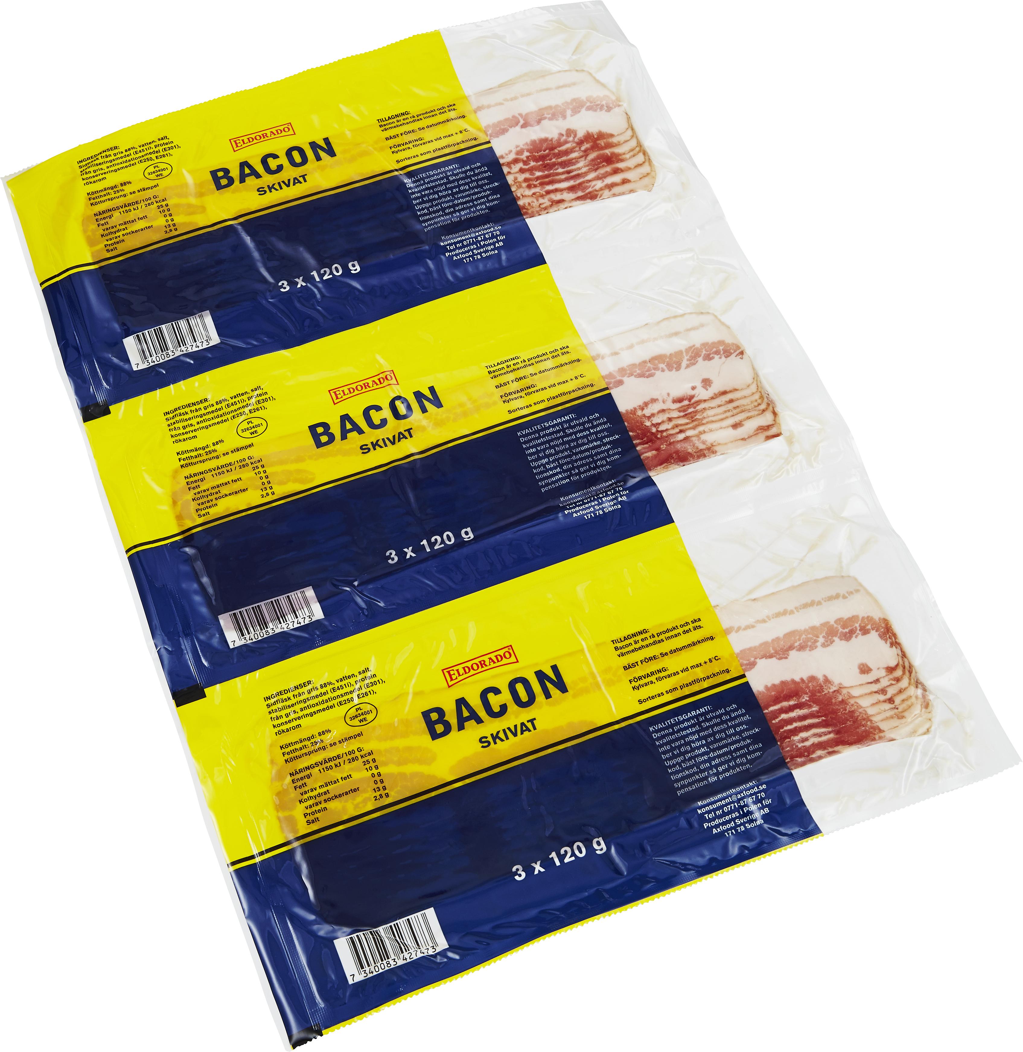Eldorado Bacon 3-pack360g